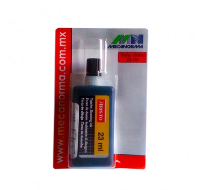 Tinta china para estilografo Mecanorma 23 ml.